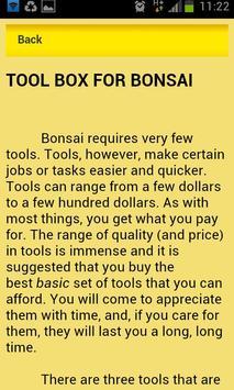 Bonsai Trees App apk screenshot