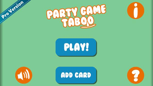 Party Game Taboo screenshot 1
