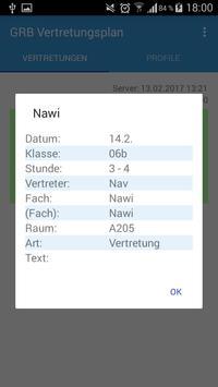 GRB Vertretungsplan apk screenshot