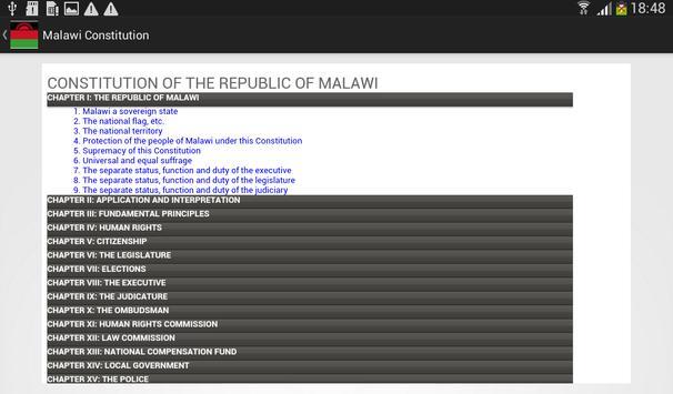 Malawi Constitution apk screenshot