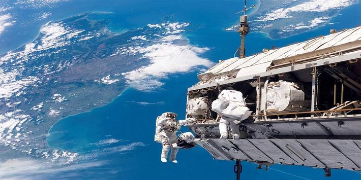 Space Videos : Moon, Earth, Hubble and ISS poster