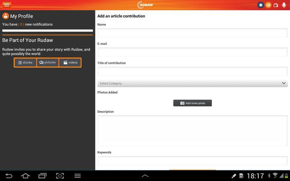 Rudaw for Tablet apk screenshot