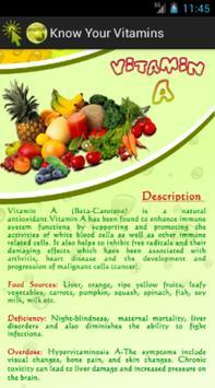 Know Your Vitamins apk screenshot