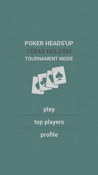 Poker Heads-Up Tournament mode poster