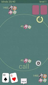 Poker Heads-Up Tournament mode apk screenshot