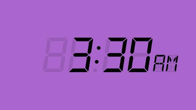LCD Clock poster