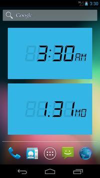 LCD Clock apk screenshot