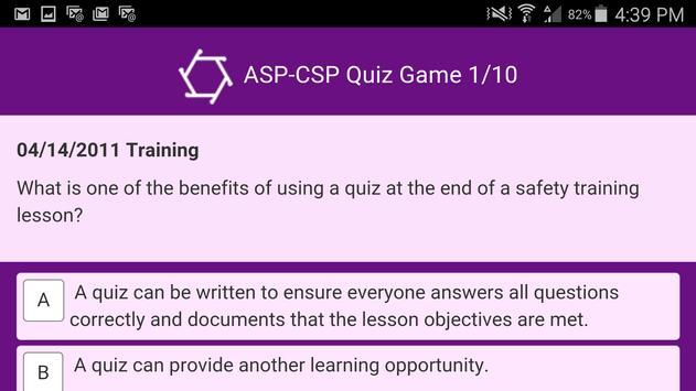 ASP-CSP Quiz Game screenshot 6