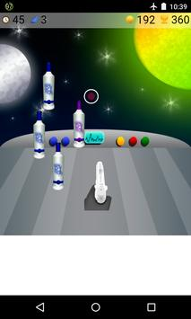 bottle shooting space games apk screenshot