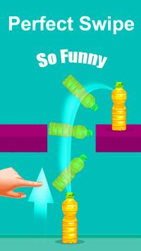 Tap Bottle Flipping Game Impossible/ poster