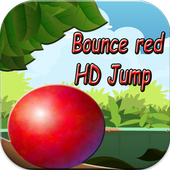 bounce red HD icon