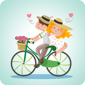 Girlfriend & Boyfriend Bicycle icon