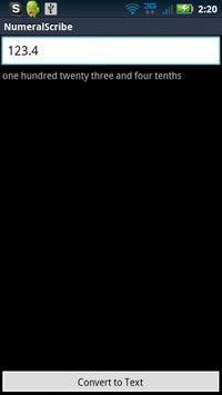 Numeral Scribe apk screenshot