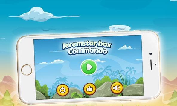 Jeremstar box Commando Game poster