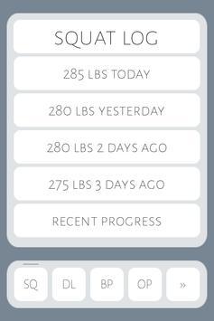 Simple Strength Tracker apk screenshot