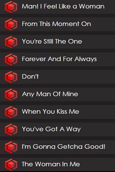 Shania Twain at Box Lyrics apk screenshot