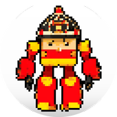 Robot Superhero Pixel Art - Coloring By Number icon