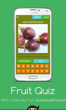 Fruit Quiz Game poster