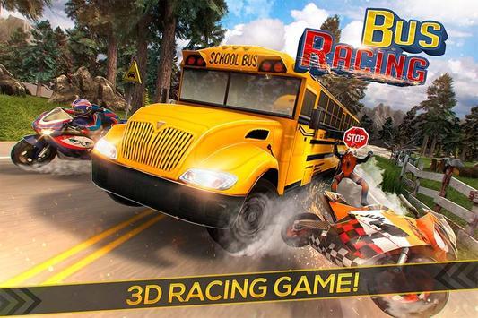 Bus Racing vs Moto GP poster