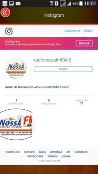 Nossa FM de Barreira/CE screenshot 2