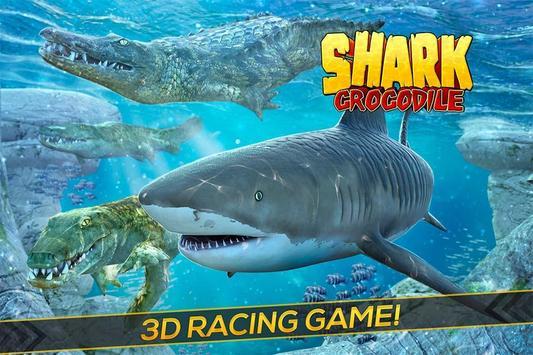 Shark & Crocodile Fight poster