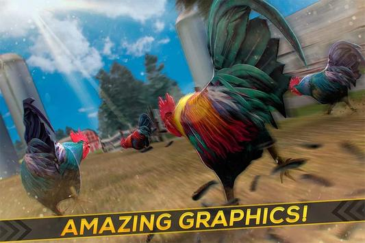 Wild Rooster Run - Frenzy Chicken Farm Race apk screenshot