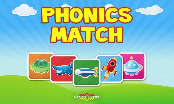 Phonics Match FREE poster