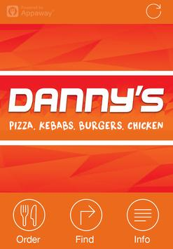 Danny's Pizzas, Liverpool poster