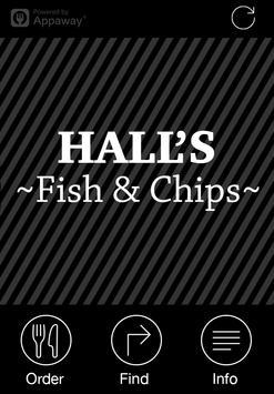 Halls Fish & Chips, Warwick poster