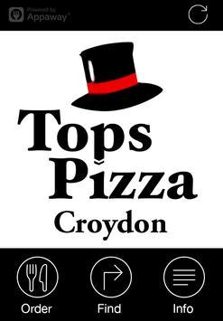 Tops Pizza, Croydon poster