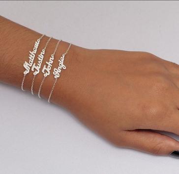 Bracelet Name Design poster