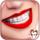 braces camera & braces Teeth photo editor icon