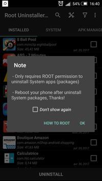 Uninstaller App System (ROOT) screenshot 5