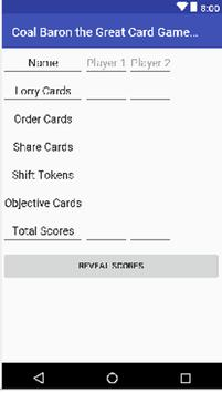 Coal Baron The Great Card Game: Scorepad screenshot 1