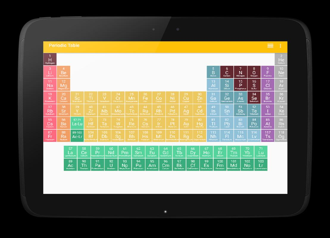periodic table apk screenshot - Periodic Table Apk Free Download