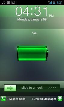 Go Locker Green Lockerscreen apk screenshot