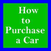 How to Purchase a Car icon