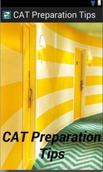 CAT Preparation Tips poster
