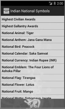 Indian National Symbols screenshot 1