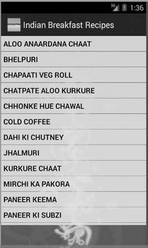 Indian Breakfast Recipes screenshot 1