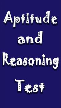 Aptitude and Reasoning Test poster