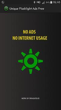 Unique Flashlight Ads Free poster