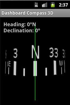 Dashboard Compass 3D poster