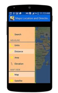 Maps Locations and Directions apk screenshot