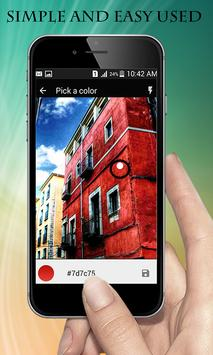 Live Photo Color Picker Camera - Color Code Reader apk screenshot