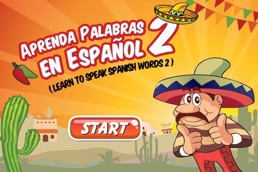Spanish Vocabulary Flashcards poster