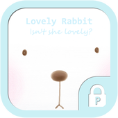 Lovely rabbit protector theme icon