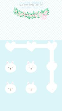 Lovely rabbit protector theme poster
