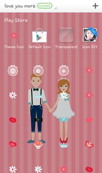 love you more 도돌런처 테마 screenshot 3