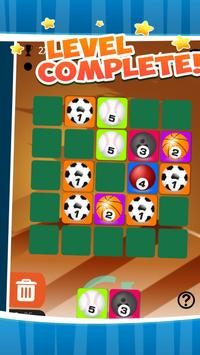 Merged ball - dominoes puzzle sports style poster